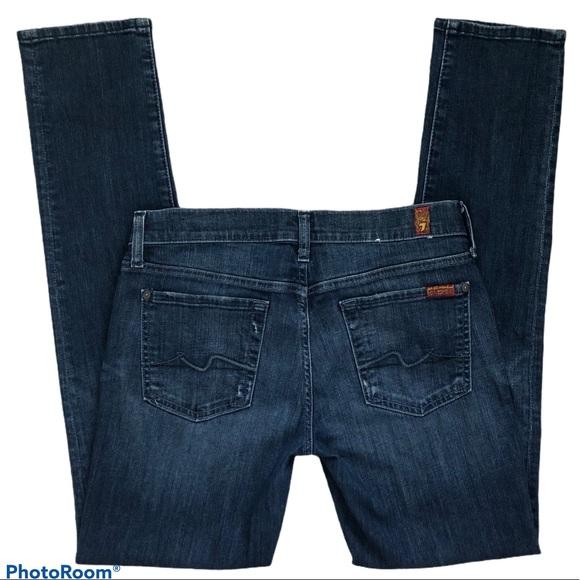 7FAM Roxanne Skinny Medium Wash Blue Jeans Size 29